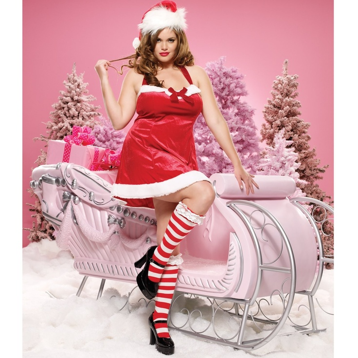 Santa's Little Helper Dress Adult Plus Costume - 1X/2X