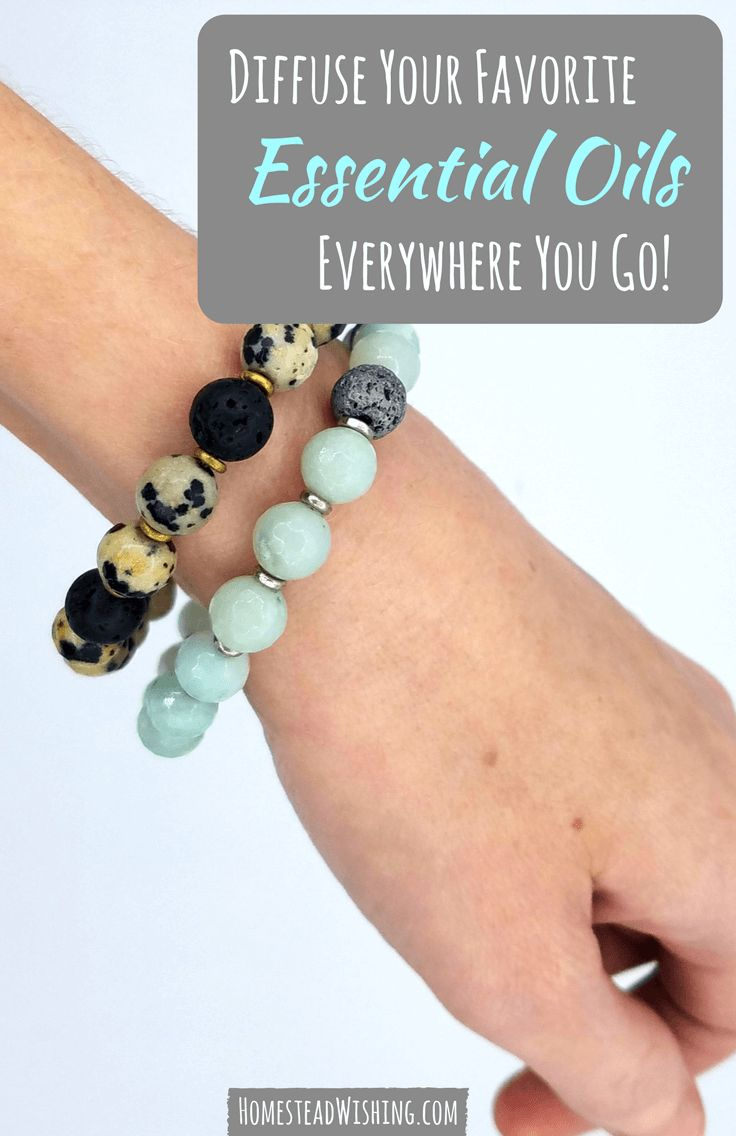 Diffuse essential oils everywhere you go, using an essential oil bracelet! They are stunning and keep diffusing for hours! | http://homesteadwishing.com/essential-oil-bracelet/ | Homestead Wishing Author, Kristi Wheeler | essential-oil-bracelet, essential-oils, essential-oil-jewelry |