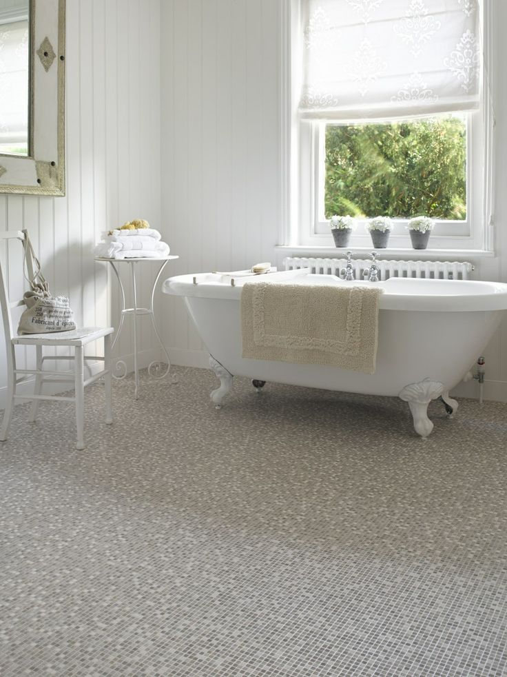 Cream coloured floors and accessories can add subtle style to any room #bathroom #decor #decorating #flooring #carpetright #bathtime #interior #home