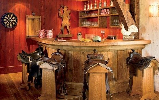 Western Bar Design With Saddle Bar Stools Saloon 39 S