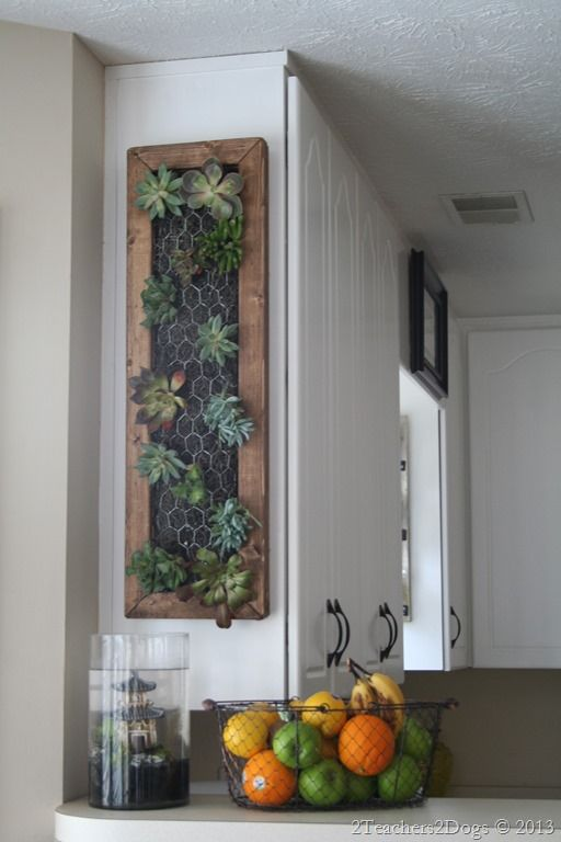 This is the easiest DIY I have found for a framed vertical garden!                                                                                                                                                                                 More