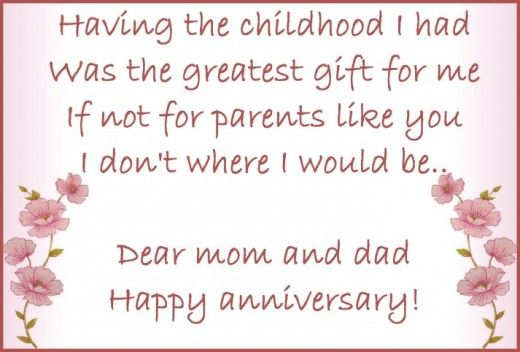 Anniversary wishes for parents: Wedding anniversary messages and poems for parents!!