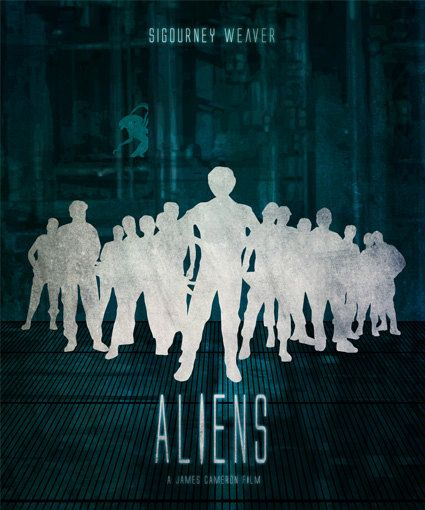 Aliens Minimalist Movie Poster Print James Cameron Home Decor Print Art Poster  15.00 USD #goriani