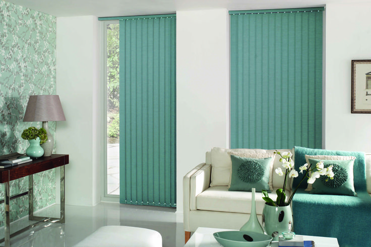 Blend them in with the walls or pick a tone within the room itself and make a statement – Vertical blinds – Get a Quote online at blindsonline.net.nz