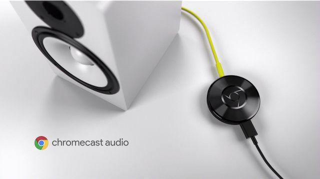 Chromecast Audio da poderes inalámbricos a cualquier altavoz   El colorido y nuevo Chromecast no es el único dispositivo de la familia que Google se ha sacado hoy de la manga. La firma también ha anunciado Chromescast Audio una variante que centra todo su interés como ya dice su nombre en el sonido. De esta manera solo tendrás que conectar el mini equipo a tus altavoces de siempre convirtiéndolos a partir de entonces en una estación inalámbrica a la que poder enviar archivos de audio ya sea…