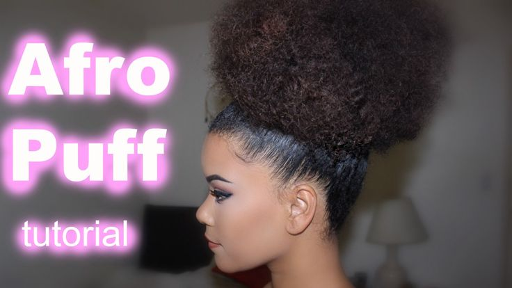How to get achieve this afro puff style right here ...