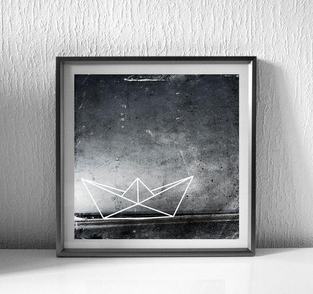 http://de.dawanda.com/product/74850151-Papierboot-schwarz-weiss-Print-Poster-30x30cm