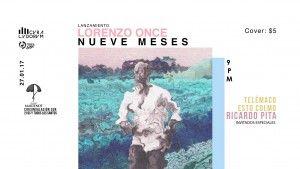 """Ricardo Pita, Telémaco y Estocolmo se reúnen en concierto, con Lorenzo Once, para el lanzamiento de su disco """"Nueve Meses""""📀"""