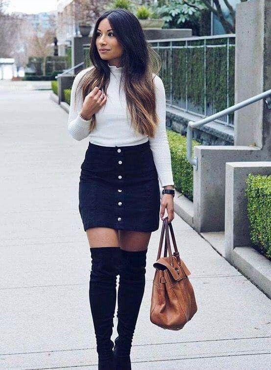 d2f7c4eda6 Outfit casual con falda •