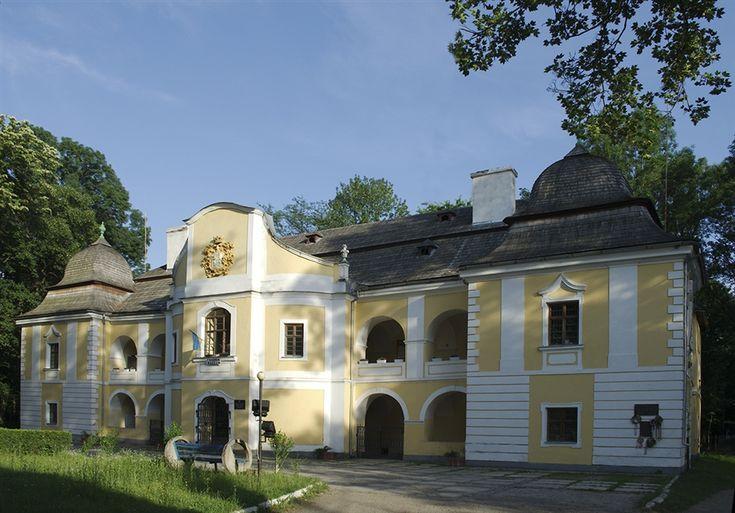 Желтый коттедж с рустами в классическом стиле