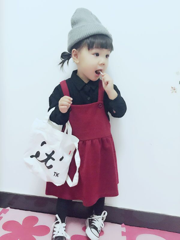 >> Click to Buy << 2016 autumn and winter wine red knit strap dress girls female baby fall and winter long section of wild vest dress #Affiliate