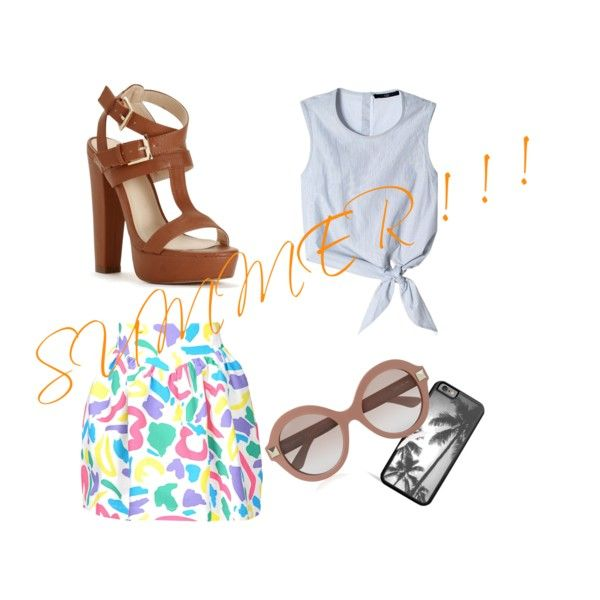 SUMMER ! ! ! by own-style on Polyvore featuring moda, TIBI, Moschino and Valentino