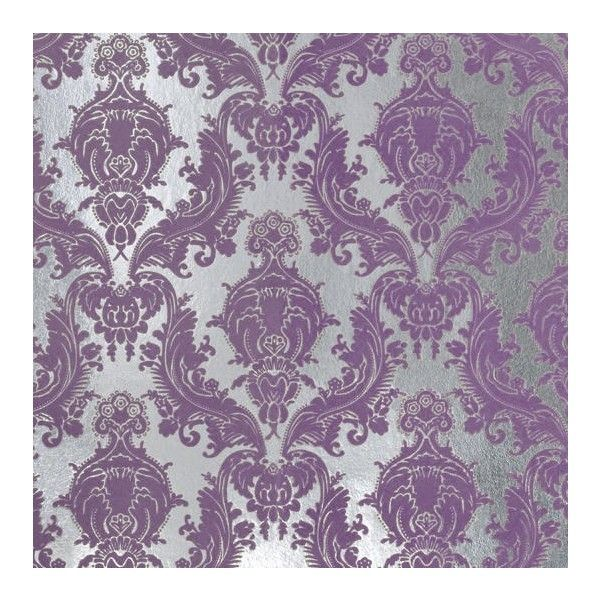 Damask Flocked Foil Wallpaper Peony Brocade Home Liked