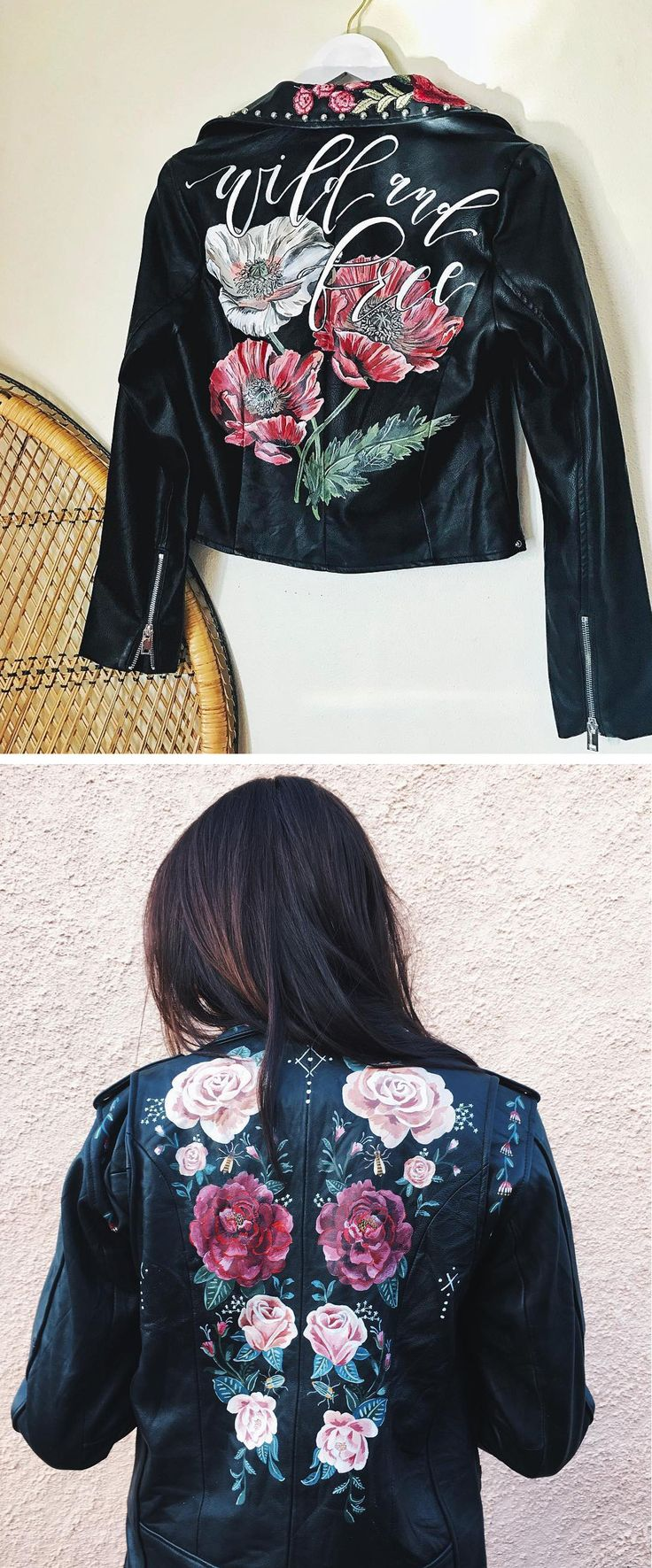 Leather jacket diy - 9 Painted Leather Jackets That Are Wearable Works Of Art