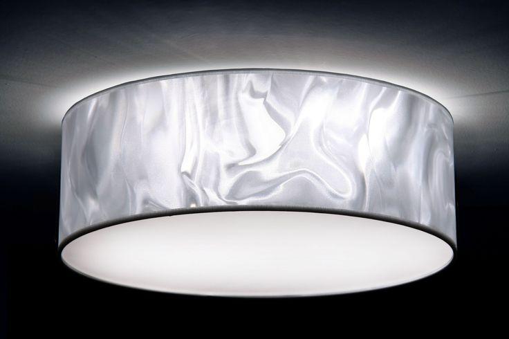 Deckenleuchte in 3D-Folie weiß, 3xE27, unterschiedliche Größen von 40 bis 70 cm Durchmesser, individuelle Anfertigung, Made in Germany