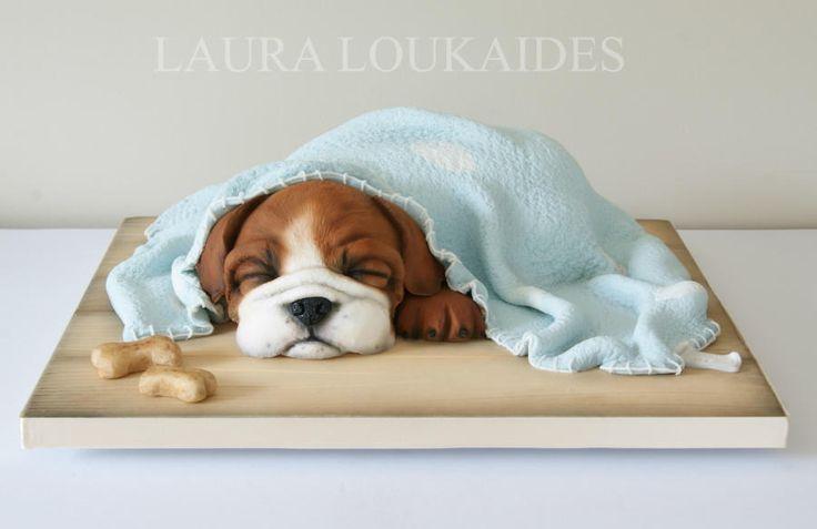Benson the Sleepy Bulldog by Laura Loukaides