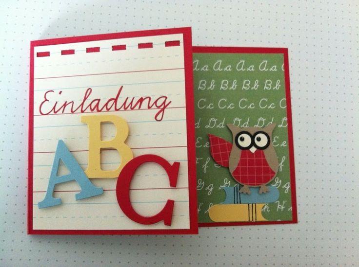 breti68 - Kreativ mit Papier: Einladung zur Einschulung