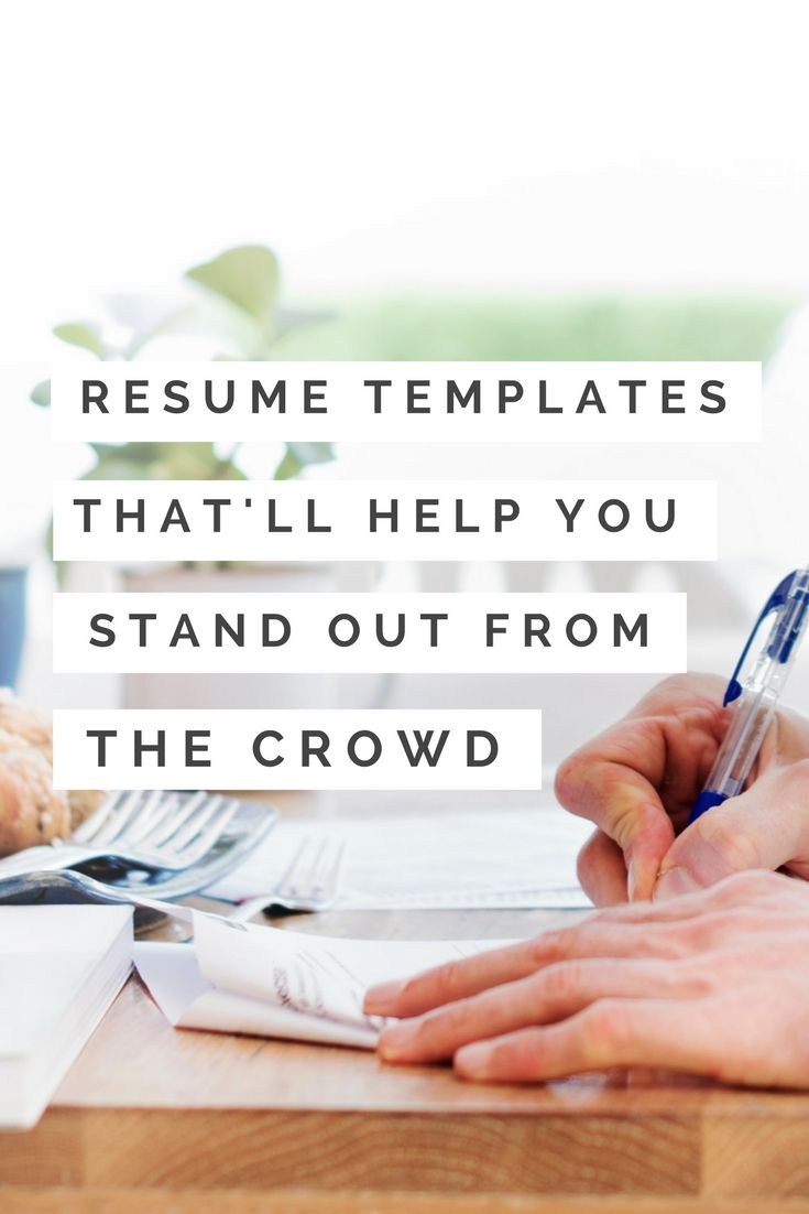 Beautifully designed resume templates that'll help you stand out from the crowd. Because if you're looking to make a career change and land a job, your resume has to be on point.