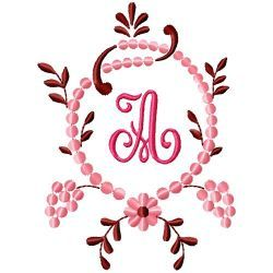 Free Embroidery Machine Design Monogram 79-A | Gosia Design