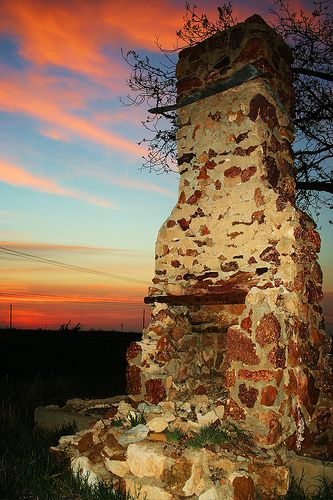 abandoned chimney, Odessa, Texas I know exactly where this is!