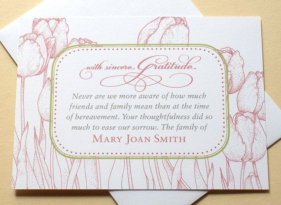 The 25+ best Sympathy thank you cards ideas on Pinterest Funeral - funeral thank you note