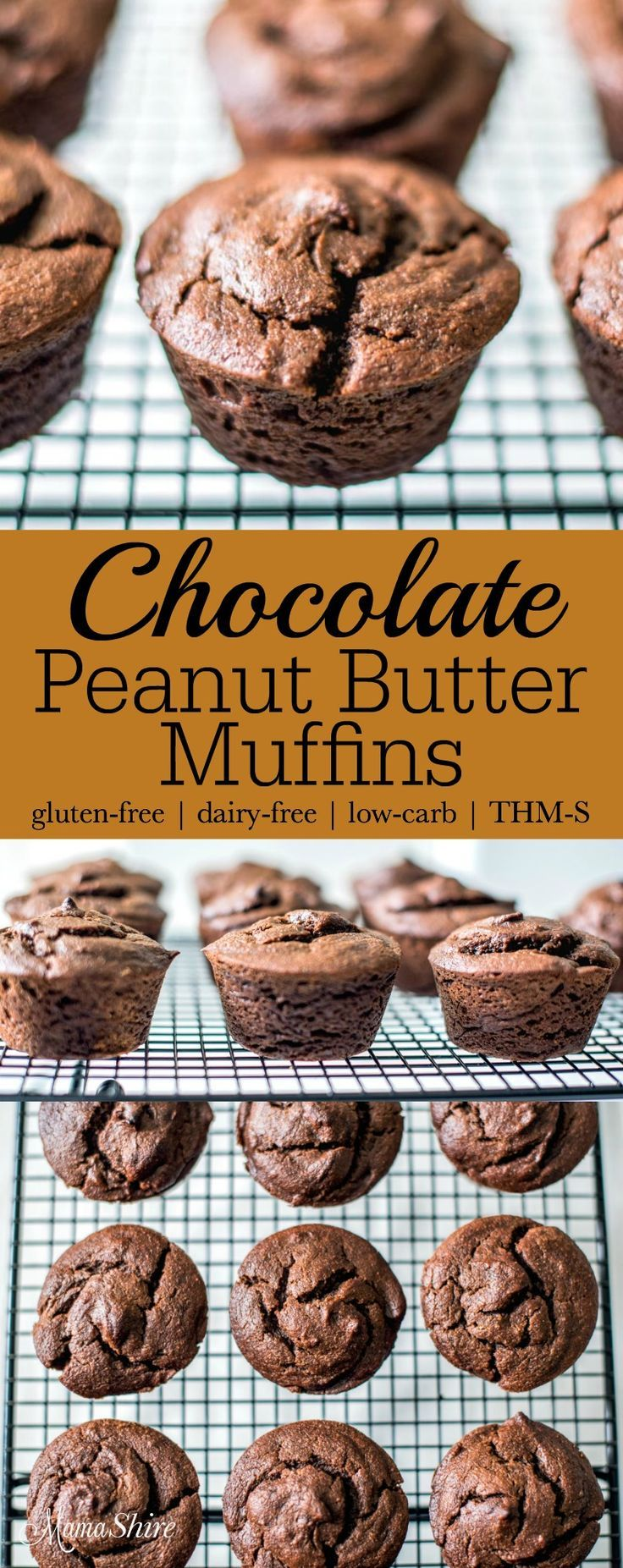 Chocolate Peanut Butter Muffins with summer squash. Gluten-free, dairy ...