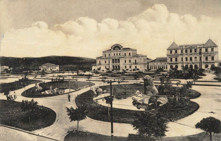Praça da Liberdade no inicio do Século XX ~ Curral del Rey.com