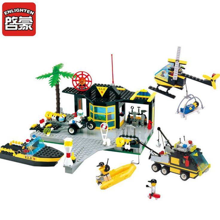 ==> [Free Shipping] Buy Best ENLIGHTEN Block City Series Blocks Maritime Rescue Centre Boat Helicopter Set Building Blocks Minis Playmobil Toys For Children Online with LOWEST Price   32808113330