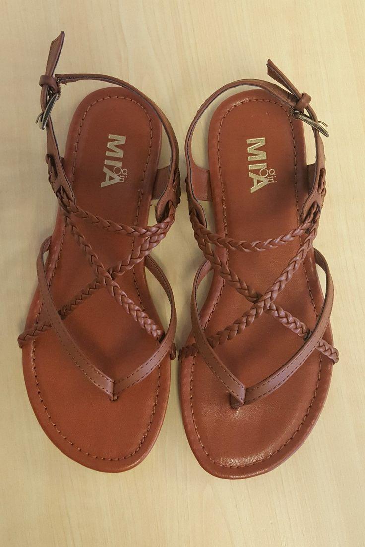 Stitch fix stylist: I like brown sandals. The straps make it interesting! Dressier than a pair of flip flops! MIA Adrianna Sandal