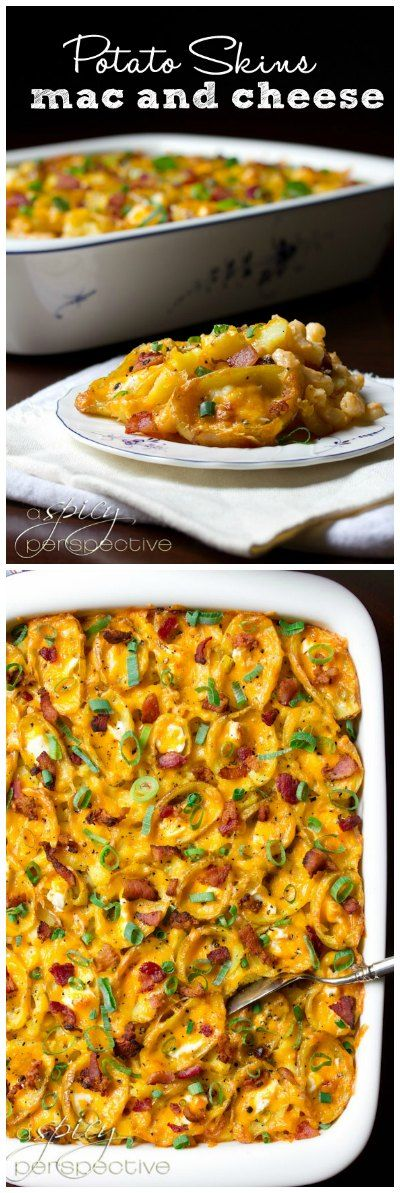 Baked Potato Skins Mac and Cheese | Recipe | Mac cheese, Dishes and ...