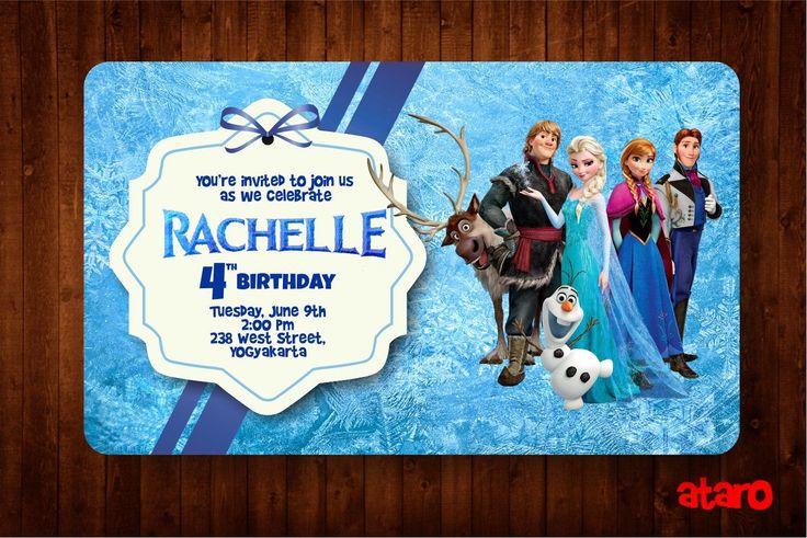 ATARO DESIGNS: Undangan Ulang Tahun Ultah Anak Tema Frozen, Sofia...