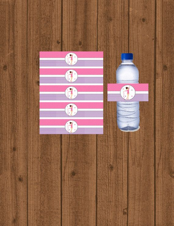 Gymnastics Water Bottle Labels Gymnastics by welcometomystore