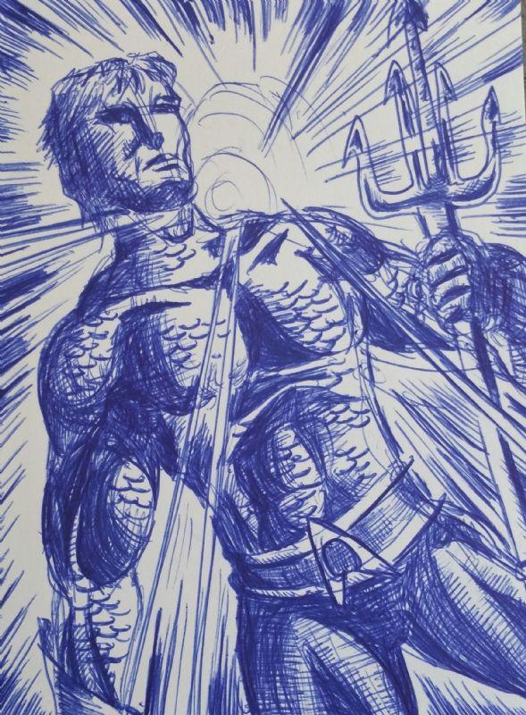 Eric Lee - Aquaman Comic Art