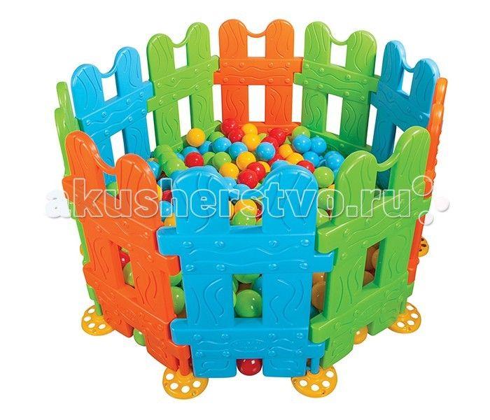 """Pilsan Ограждение (игровой манеж)  Ограждение детское """"Игровой манеж малый"""" - предназначено для детей 1-5 лет. В комплекте 10 секций, 11 фиксирующих ножек.  Позволяет формировать все геометрические фигуры, легкий монтаж без болтов, легкая установка.  Ограждение можно использовать в доме из 4-6 секций или в теплое время года на улице.  Прозрачная изгородь очень удобна для присмотра за малышом и в то же время позволяет ему познавать окружающий мир.  Размеры ограды: 144х144х79.5 см.  Компания…"""