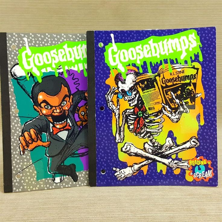 Goosebumps LOT 2 Theme Notebook Lined Ruled Paper 50 Sheets Reading is a Scream