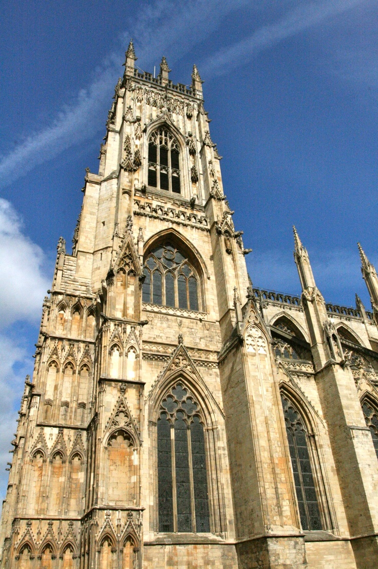 Clear blue sky..  York Minster. York - UK.