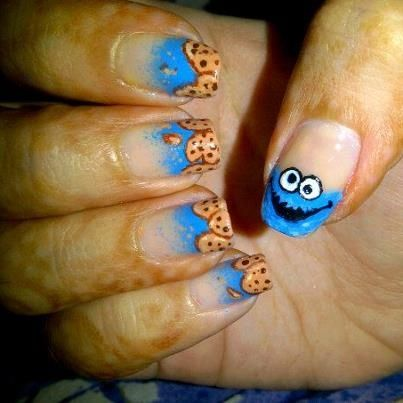 Cookie Monster Nails - Nail Art Gallery by NAILS Magazine