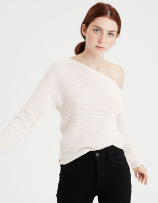 7b47bcd525a AE Off-The-Shoulder Dolman Sweater by American Eagle Outfitters ...