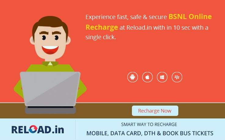 Experience fast, safe & secure #BSNLOnlineRecharge at Reload.in with in 10 sec with a single click. Visit @ www.reload.in/bsnl-prepaid-mobile-online-recharge/