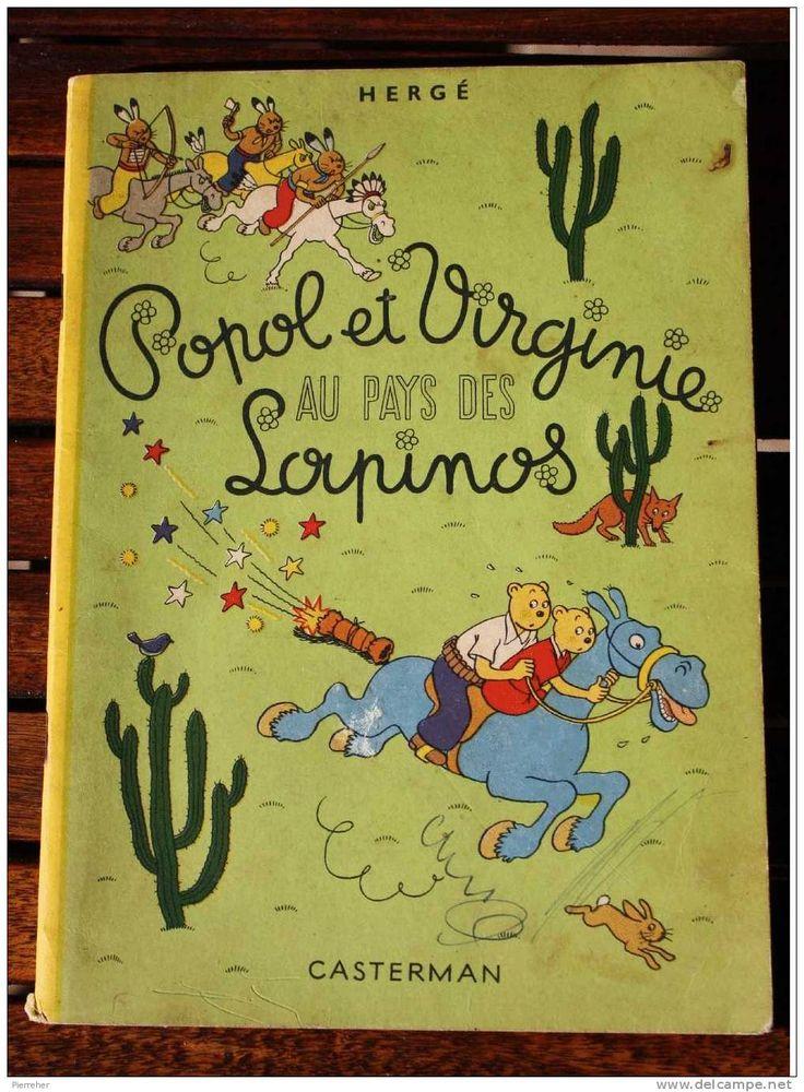 0010 Popol et Virginie au pays des Lapinos 1952 Hergé, es