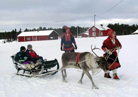 Lapland... snow/cabins/Father Christmas/reindeer/sleighs... Chloe will think she is in Christmas heaven, so will we!