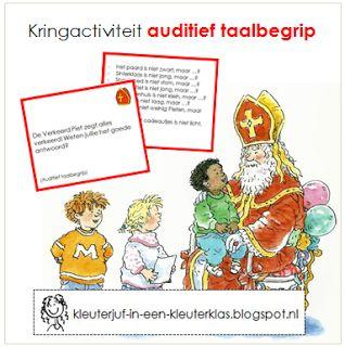 Kleuterklas: Kringactiviteit auditief taalbegrip thema Sinterklaas