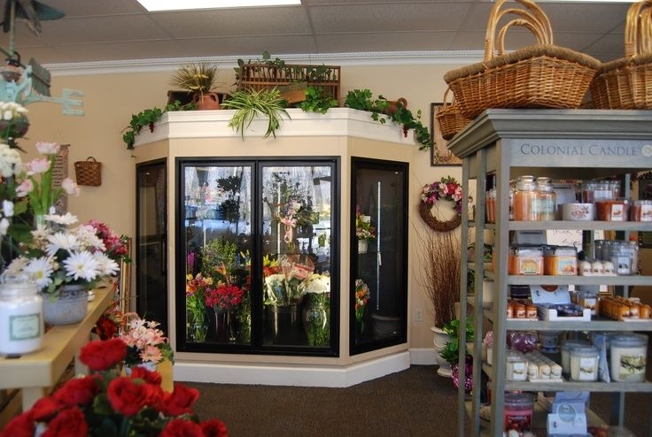 Cooler and Floral Magic Store Front Flower Shop Decor Pinter