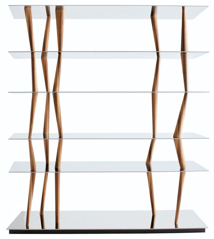 Scopri Scaffale Sendai -6 ripiani - H 192 cm, L 192 x H 192 cm - 6 ripiani - Acciaio inox e noce canaletto di Horm disponibile su Made In Design Italia il miglior sito online di design.
