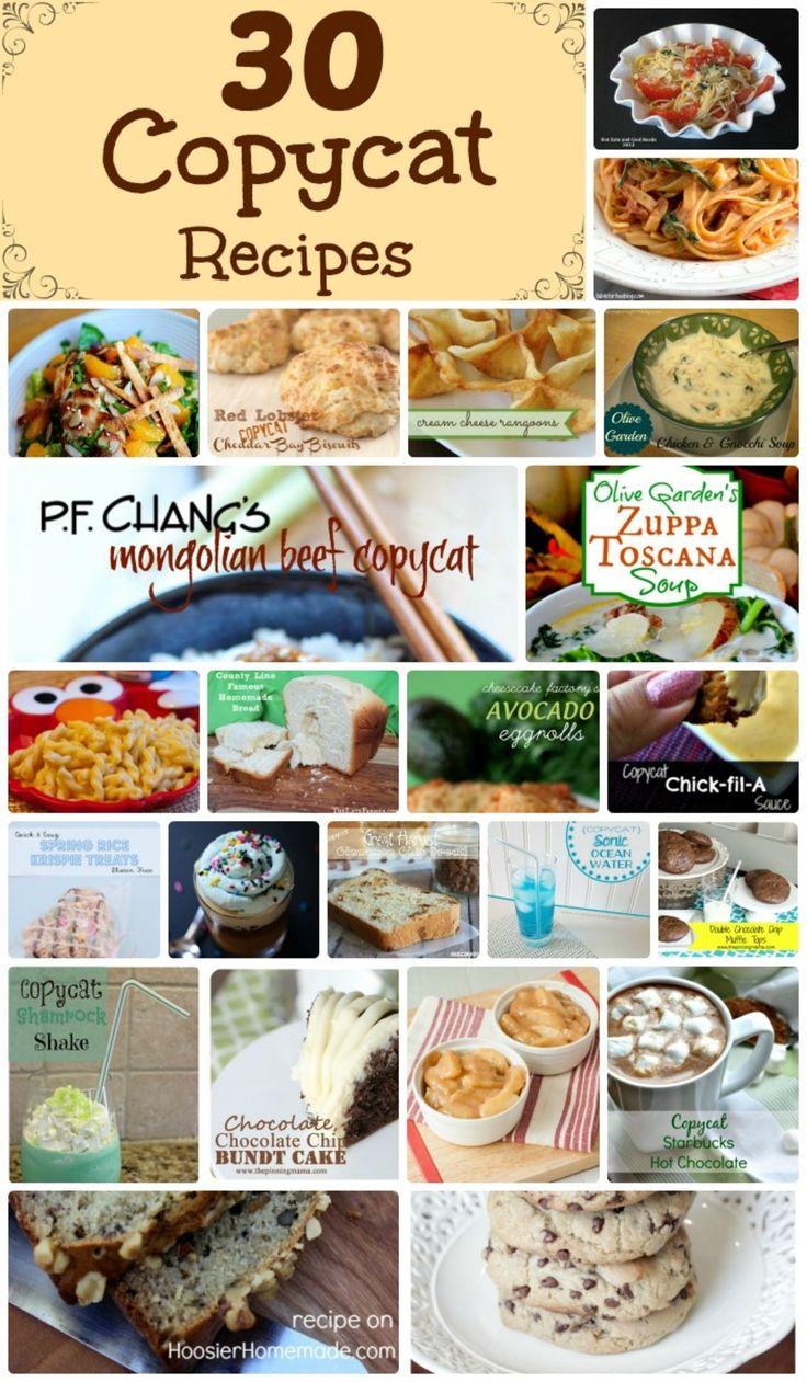 414 best copy cat restaurant recipes images on pinterest 30 delicious copycat recipes forumfinder Images