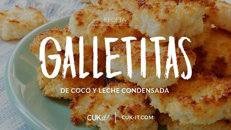 Receta de Galletitas de Coco con Leche Condensada (sólo 2 ingredientes) ...