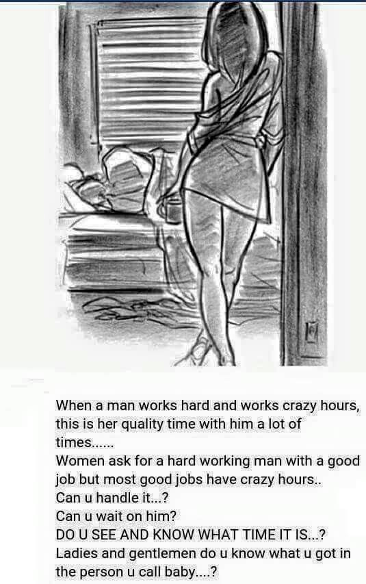 My husband has worked night shift for over 8 years...I have a day job...its hard, its lonely, it takes a toll on your relationship.  Its so important to make time (somehow) for each other no matter what!
