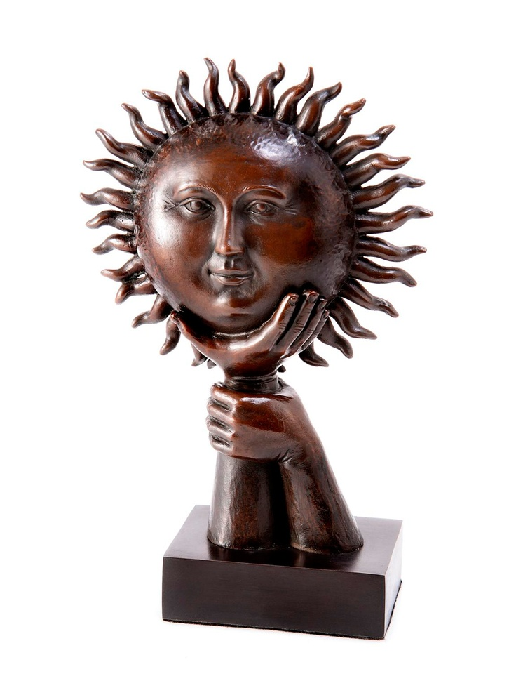 Sergio Bustamante, Bronze SculptureThe Mars, Paper Mache, Metals Art, Sergio Bustamante, Sun, Bronze Sculpture