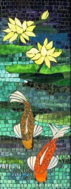 Mosaic pond   #mosaic #decoration