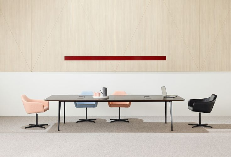 Aire table's couple a light finish with strong performance through the use of high quality aluminium and engineering | Schiavello.